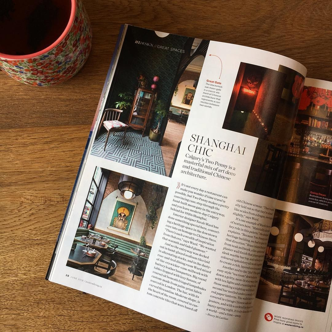 Two Penny Chinese Featured in Western Living Magazine!