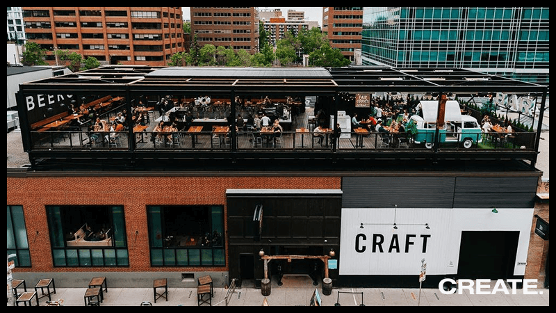 CRAFT Beer Market - Roof Top and Re-Imagined Interior